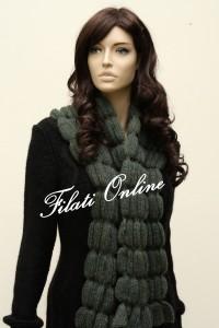 SC8 sciarpa gioiello misto lana con lurex misura 33x132 pesa 165gr e costa 27€