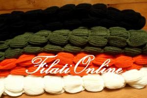 SC08 sciarpa gioiello misto lana disponibili anche in  bianco, nero, verde, arancio.