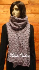 SC14 sciarpa misto lana rosa melange