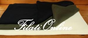 STO18 stola rasata in puro merino extrafine colori disponibili: nero, blu scuro, panna e verde