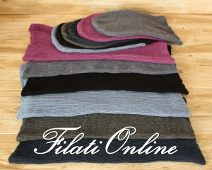 CCWS1 cappello e collo in Cashmere a coste colori disponibili
