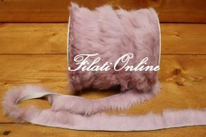 F3000 Fettuccia realizzato in pelliccia di lapin naturale color rosa