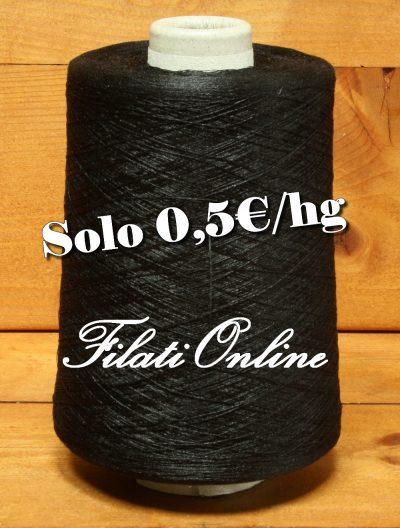 A50N filato in polyester Nero 935gr 4,68€ - 1130gr 5,65€ - lotto di 7 rocche dal peso netto di 1100gr - 5,50€ - 620gr 3,10€ - disponibili altre rocche.