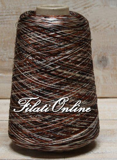 VI60man Viscosa simil seta stampata marrone avorio nero 475gr 16,63€ - 450gr 15,75€