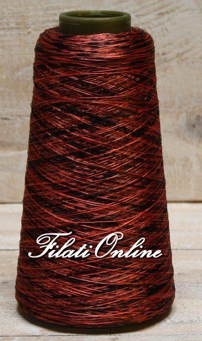 VI60rcn Viscosa simil seta stampata rosso corallo e nero 230gr 8,05€