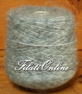 WM407G Filato misto lana e mohair grigio 600gr 18€