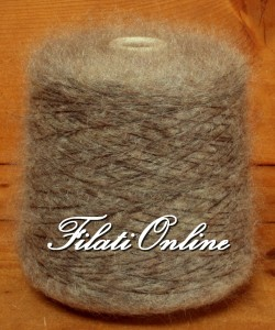 WM407N Filato misto lana e mohair nocciola 600gr 18€