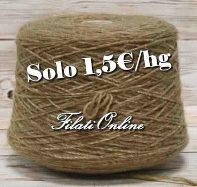 WO409 Filato misto lana marrone nocciola melange