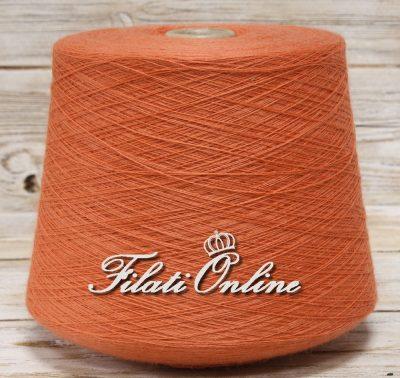 WVMOE100 Filato frisé elasticizzato misto merino arancio mattone