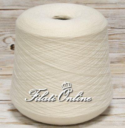 WSOE80 Filato misto cashmere elasticizzato bianco panna Filato Loro Piana