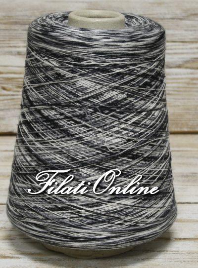 COE80NB Filato misto cotone elasticizzato nero bianco