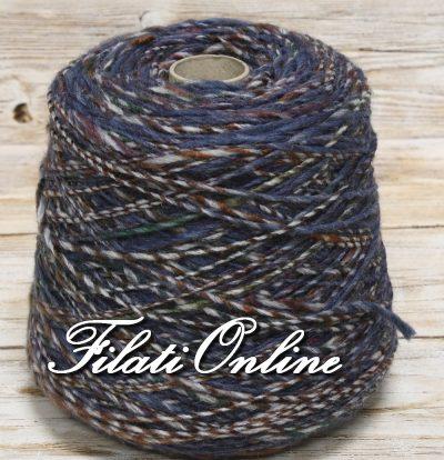 WO403B Filato stoppino misto lana multicolore blu