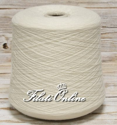 WSO81 Filato misto cashmere e lana bianco panna naturale