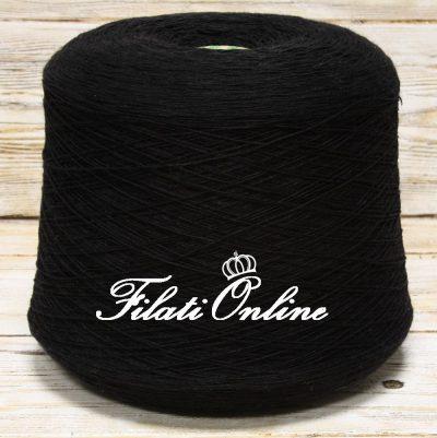WV112 Filato pura lana nero 2,70€/hg