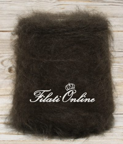 WM205m filato kid mohair a pelo lungo color marrone