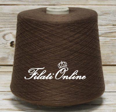 COWS95m Filato cotone seta e cashmere colore marrone brown