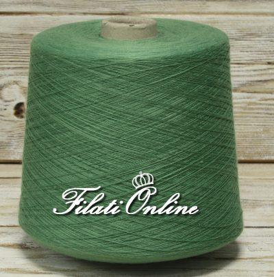 COES95v Filato cotone seta e cashmere colore verde green
