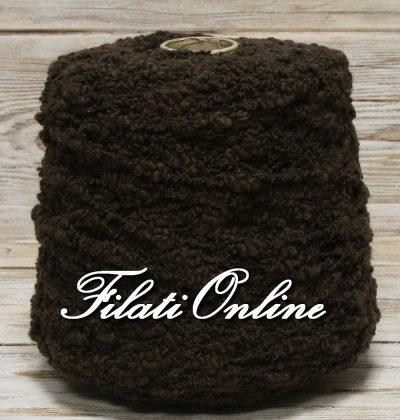 WO600 misto lana tipo bouclè color marron