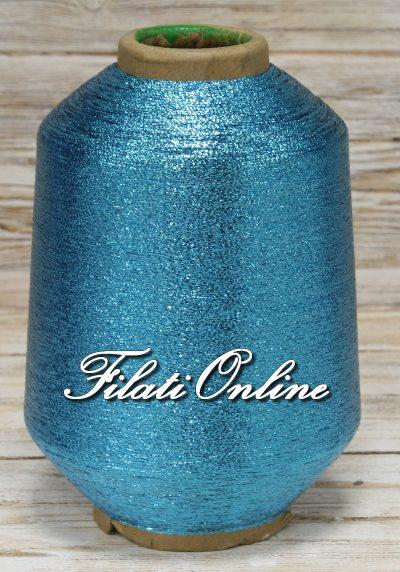 L28 Filato in LUREX piattina colore azzurro turchese