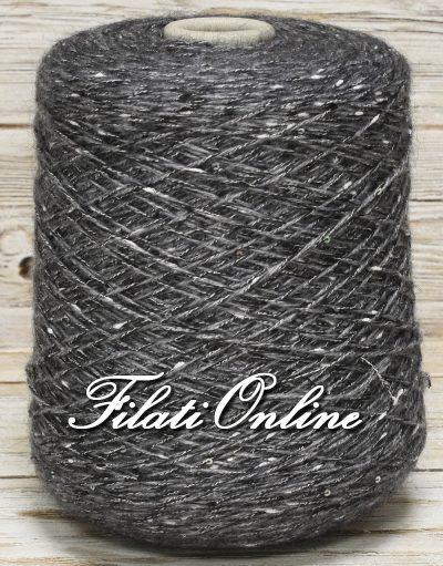 WO301g filato misto lana grigio con paillettes argento