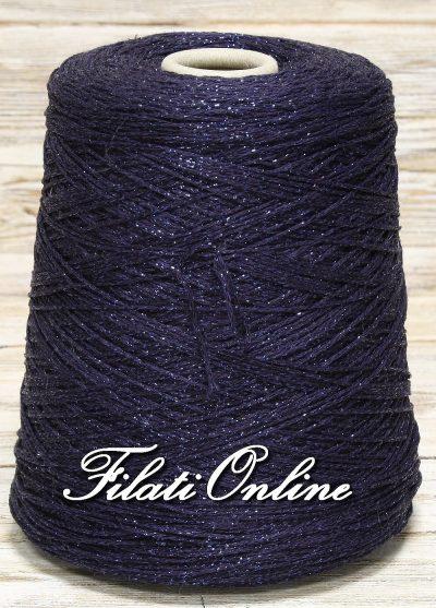 VICL150bl Filato catenella di viscosa con lurex blu scuro