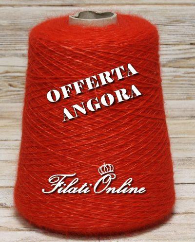 WA150r Filato in angora e seta color rossa