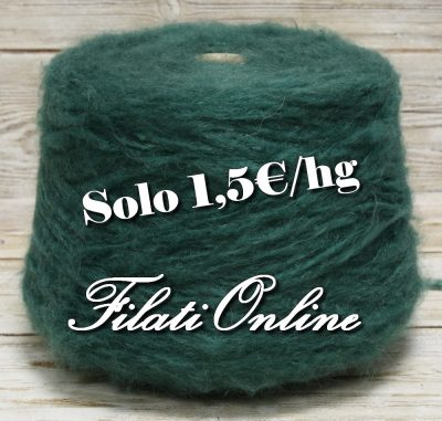 WM405ve Filato misto mohair soffice e vaporoso verde