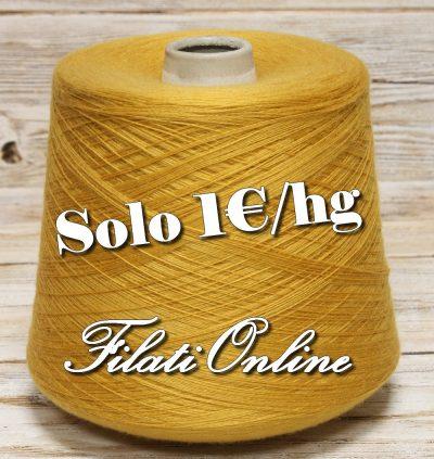 WO106 filato misto lana color giallo senape ocra