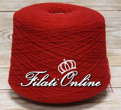 WS140 Filato in puro cashmere colore rosso natale