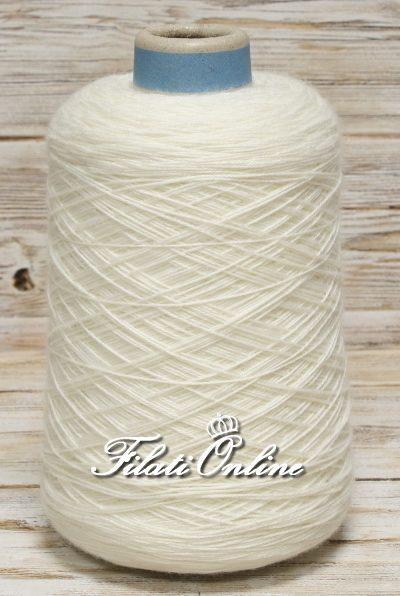 WVM150b filato in puro merino bianco