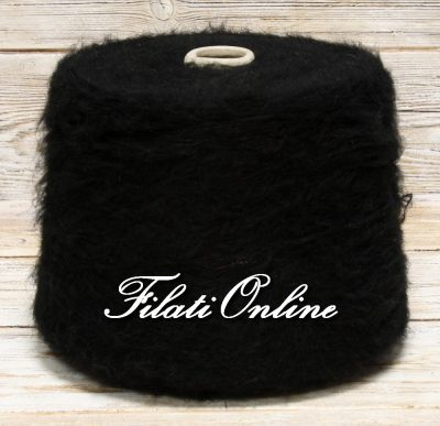 WM153 Filato misto mohair color nero