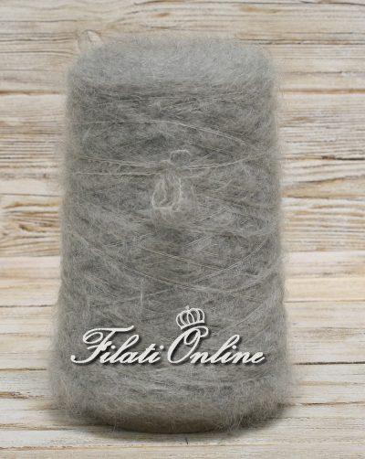 WM301 Filato misto mohair color grigio chiaro elasticizzato