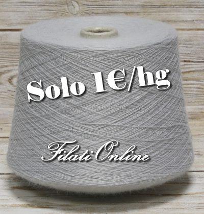 WO111 filato misto lana color grigio chiaro ghiaccio