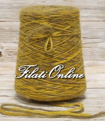 WO402 filato misto lana grossa cordonato color ocra e nocciola