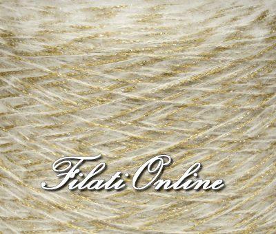 WPL300 misto alpaca beige e oro con lurex oro particolare del filato