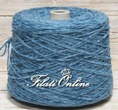 CI300  filato di ciniglia color azzurra