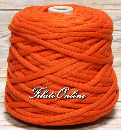 COC900 filato di cotone cordonato tipo fettuccia con anima morbidissima arancio mattone