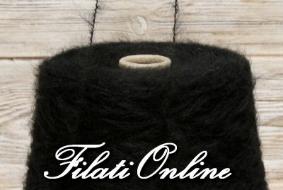WM302 Filato misto mohair color nero