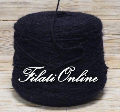 WO404 filato stoppino misto lana e alpaca color blu scuro