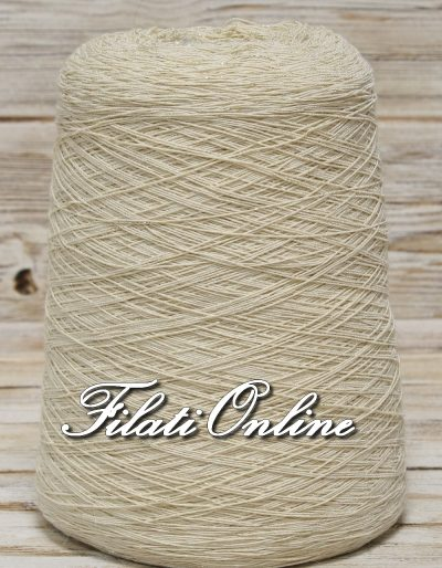 WOL100 filato misto lana beige con lurex oro