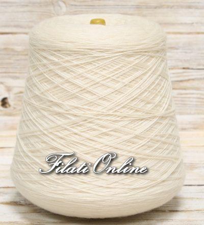 WV155 Filato in pura lana color  bianco latte