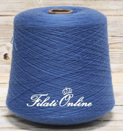 WVM104 filato in puro merino color blu