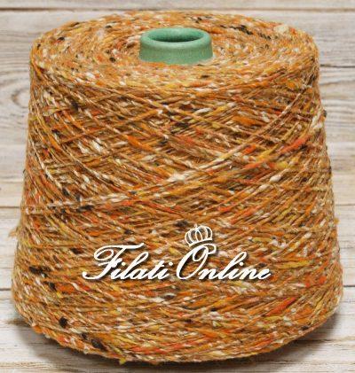 WVSE200 filato in lana e seta multicolore fantasia arancio