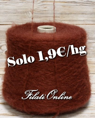 WM110 Filato misto mohair color bordò OFFERTA