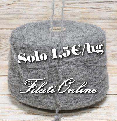 WO320 filato misto lana color grigio medio
