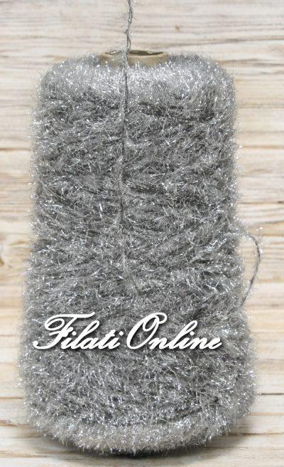 PL301 Filato pelliccioso con lurex laminato argento