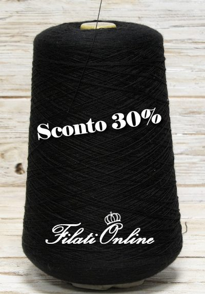 SE105 filato in pura seta color nero OFFERTA