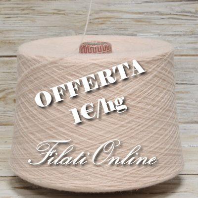 WO120 filato misto lana color rosa carne