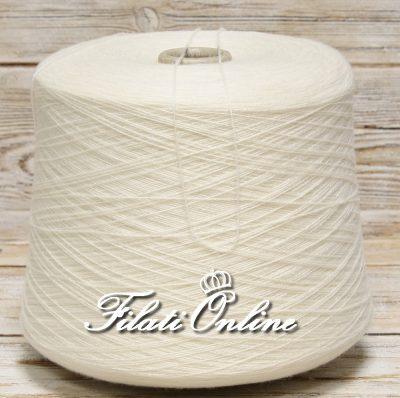 WS110 Filato in puro cashmere LORO PIANA colore bianco latte