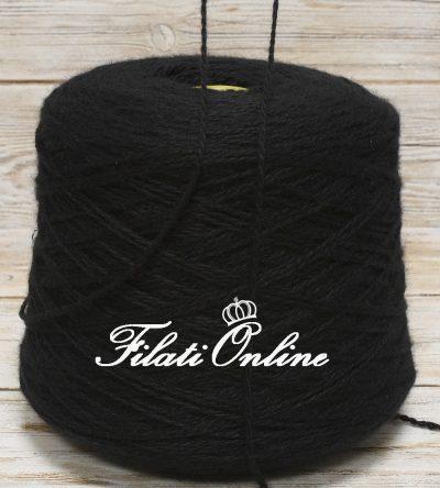 WS200n Filato in puro cashmere nero